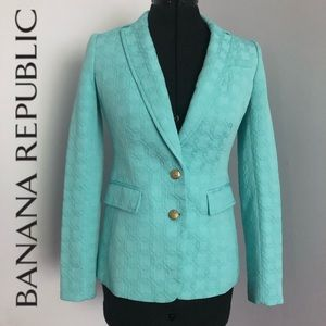 NWOT Banana Republic Blazer | Light Blue/Turquoise